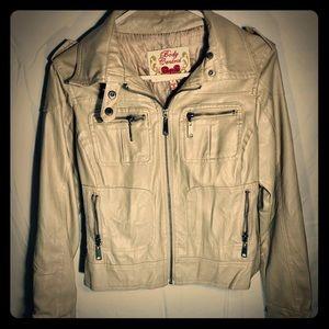 Jackets & Blazers - Womens Faux leather Jacket